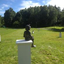 Sculpture garden, Granstangen skole, 2015